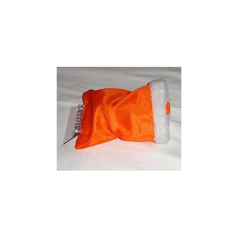 Autoškrabka s rukavicí  24x13  plast  oranžová