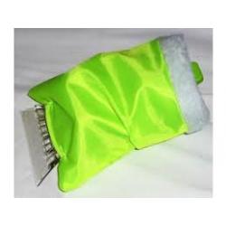Autoškrabka s rukavicí  24x13  plast  zelená