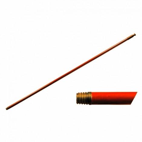 Tyč tvrzená hrubý závit  130 cm  červená