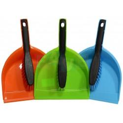 Smetáček + lopatka ECO bez gumy, plast, zelená