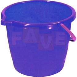 Kbelík LABUŤ s výlevkou 12L  plast, modrý