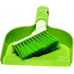 Smetáček+ Lopatka MINI  23,5x16,5 22x2,5 cm plast, zelená