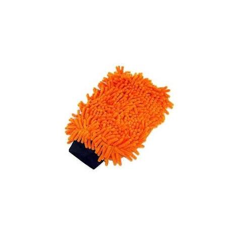 Mikrovlákno FANTASY žinylková rukavice  24,5x16 cm, oranžová
