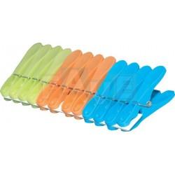 Kolíčky JUMBO 12 ks  8x4x1,5 cm  plast