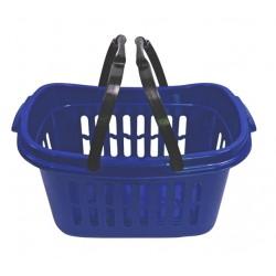 Koš na čisté prádlo s držadlem  48x28x24 cm,plast, modrý
