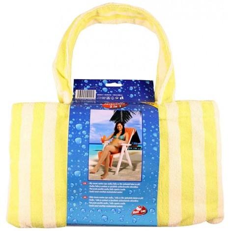 JACQUELINE-mikrovláknová osuška taška žlutá, osuška 150x70 cm, taška 40x24 cm