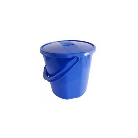 Kbelík s víkem  30,5x27 cm  12 l  plast, modrý