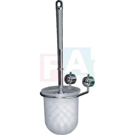 WC souprava CHROM + hmoždinky a šrouby  30x7 cm  kov, plast