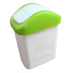 Koš výklopný , zelená 16 l  plast