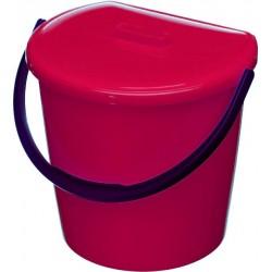 Koš závěsný s víkem, červený  31x28x25 cm  11 l  plast
