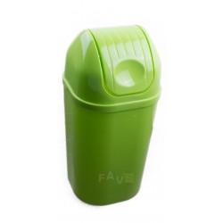 Koš DinDon odpadkový hranatý s víkem, zelený  67x34 cm  50 l  plast