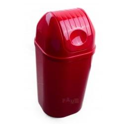 Koš DinDon odpadkový hranatý s víkem, červený  67x34 cm  50 l  plast