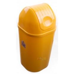 Koš DinDon odpadkový hranatý s víkem, žlutý  67x34 cm  50 l  plast