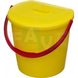 Koš závěsný s víkem, žlutý  31x28x25 cm  11 l  plast