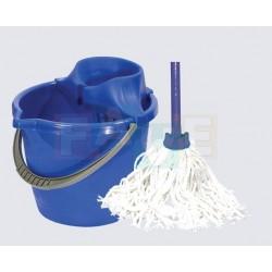 Mopová souprava LABUŤ mop provázkový  120x31x28 cm  mop 160g  plast, kov, bavlna