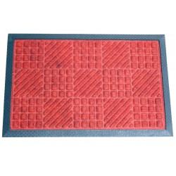Rohož 40x60 cm/8 mm, guma/koberec, červená