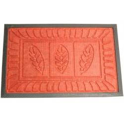 Rohož listy 40x60 cm/8 mm, guma/koberec, červená