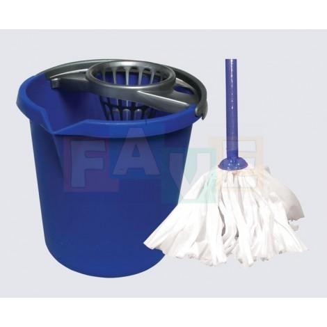 Mopová souprava JOLLY s mopem EKO  120x28 cm  10 l  110 g  plast, bavlna, kov