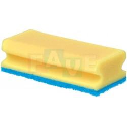 Houba GASTRO tvarovaná, na teflon žlutá, modrý pad, balení 5 ks  15,5x7x4,5 cm  polyuretan