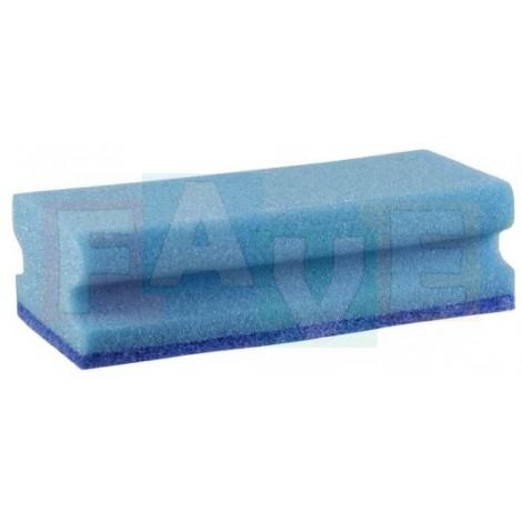 Houba GASTRO tvarovaná, na teflon modrá, modrý pad, balení 5 ks  15,5x7x4,5 cm  polyuretan