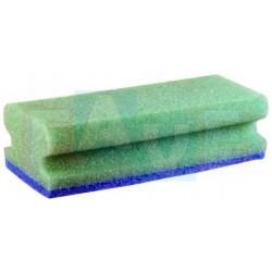 Houba GASTRO tvarovaná na teflon zelená, modrý pad, balení 5 ks  15,5x7x4,5 cm  polyuretan