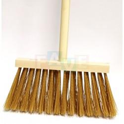 Koště dřevěné s tyčí  120cm  chlup 12 cm  dřevo, plast