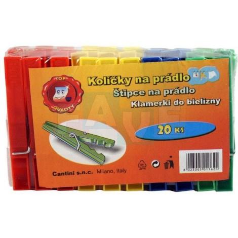 Kolíčky 20 ks  7x1,5 cm  plast