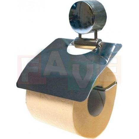 Držák toaletního papíru s krytem  16x13 cm  nerez