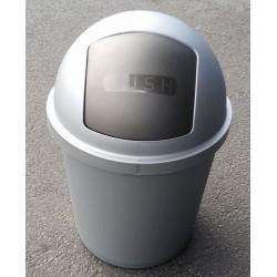 Koš ZEUSS výklopný, stříbrný  60x39,5 cm  40 l  plast