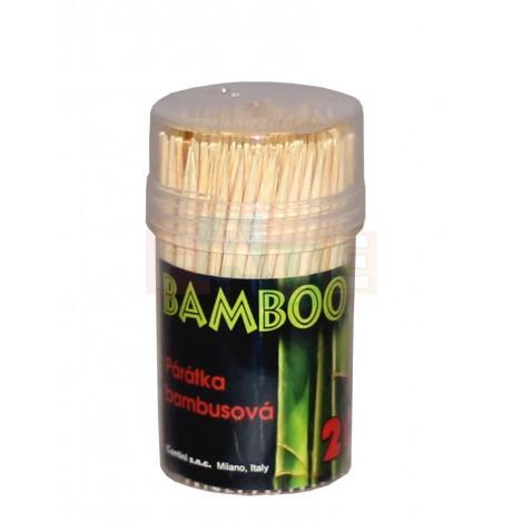 Párátka Bamboo 200ks  7,5x3 cm  dřevo