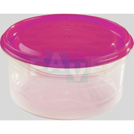 Dóza PALERMO kulatá  15x7,6 cm  1 l  plast  mix barev