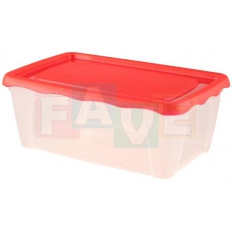 Dóza PRACTIC hranatá  14,5x9,5x5,5 cm  0,5 l  plast  mix barev