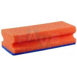Houba GASTRO tvarovaná na teflon červená, modrý pad, balení 5 ks  15,5x7x4,5 cm  polyuretan