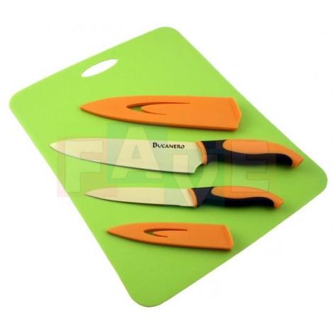 Sada VERONA - tefl. nůž univerzální 13cm +kuchařský 20,5 cm+prkénko 36x28cm zdarma