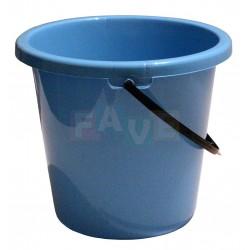 Kbelík bez výlevky  26x26 cm 10L  plast modrý