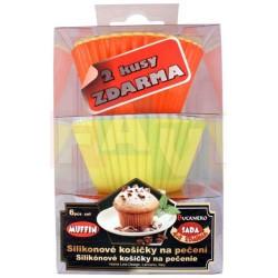 Košíček na muffiny 6 ks  7,5x3 cm  silikon