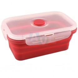 BOX FRESH skládací s ventilem a čtyřmi zámky  16,5x11x6 cm  0,54 l  silikon  mix barev