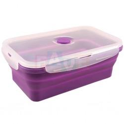 BOX FRESH skládací s ventilem a čtyřmi zámky  19x12x6 cm  0,8 l  silikon  mix barev