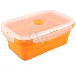 BOX FRESH skládací s ventilem a čtyřmi zámky  21x14x6 cm  1,2 l  silikon  mix barev