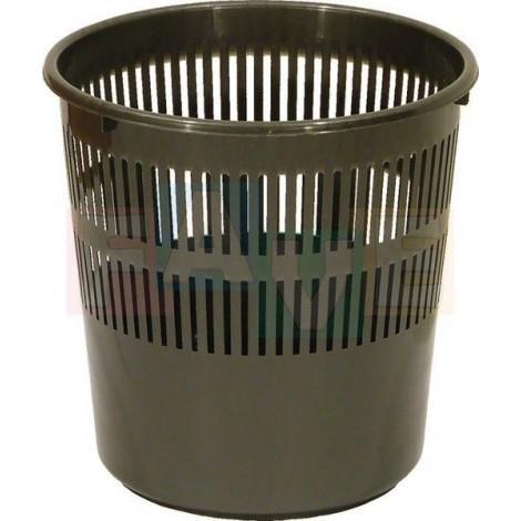 Koš odpadkový děrovaný, šedý  27x27,5 cm  12 l  plast