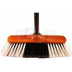 Smeták Mr. Broom s černou tvrzenou tyčí  139x28,5x5,5 cm  chlup 8 cm  plast, kov