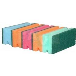 Houba GASTRO tvarovaná barevná, zelený pad, balení 5 ks  15,5x7x4 cm  polyuretan
