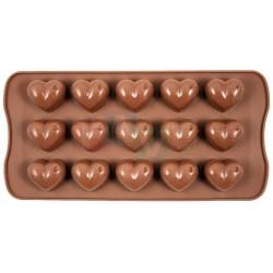 Forma SWEETTRUFFLE srdce, na čokoládu, pralinky a bonbóny  24x10 cm  silikon