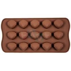 Forma SWEETTRUFFLE mušle, na čokoládu, pralinky a bonbóny  24x10 cm  silikon