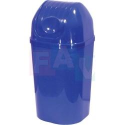 Koš DinDon odpadkový hranatý s víkem, modrý  67x34 cm  50 l  plast