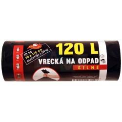 Pytle LDPE černé 10 ks  110x70 cm  120 l  40 mi  plast