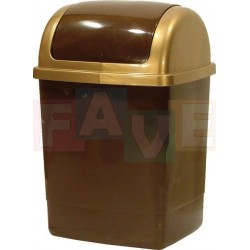 Koš KLIP odpadkový hranatý s víkem, hnědý  49x28x23 cm  26 l  plast