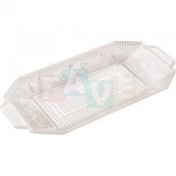 Podnos BANDEJA LUXE na zákusky chlebíčky  28,5x14,5x2,6 cm  plast
