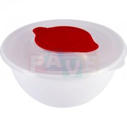 Mísa BOL CAPRI šlehací s krytem, otvorem a víčkem  9,5x9,5 cm  1,6 l  plast