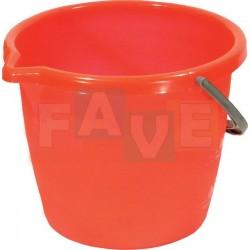 Kbelík LABUŤ s výlevkou 12L  plast, červený